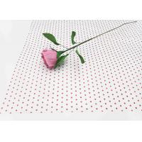 Wholesale 17gsm Waxed Wrapping Dotted Tissue Paper Foil Tissue Paper Sheets Metallic Red Dot Pattern from china suppliers