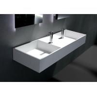 Buy cheap Single Faucet Hole 1200*480*150mm Wall Hung Basin from wholesalers