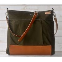Wholesale BEST SELLER Diaper bag,Messenger bag Green Stockholm with Leather strap,Ikabags from china suppliers