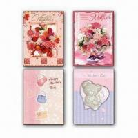 China Mother's Day Card, with 3D Finish, Custom Design Welcome on sale