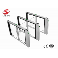 Wholesale Slim Stainless and Servo motor pedestrian gate with low noise and high performance for office building from china suppliers
