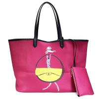 Wholesale Large capacity Neoprene shoulder shopping bag which bottom edge wrapped with pulling bone from china suppliers
