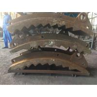 China GX140MnCr 14-2 Wear-resistant Castings , Grinding Path Impact Plate Schist Iron Ore Crusher wholesale