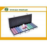 China 500 Ct Striped Dice 11.5 Gram Poker Chips Sets W / Aluminum Case wholesale