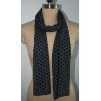 Knitted Silk Cashmere  floral print Scarf for Women Spring Autumn Keeping Warm