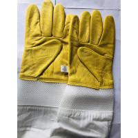 Wholesale Yellow Sheepskin Gloves For Beekeeping With White Ventilated Wrist White Cloth Sleeve from china suppliers