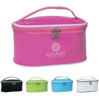 Wholesale Fashion pink Thick Vinyl PVC Packaging travel cosmetic Bags for women / girl from china suppliers