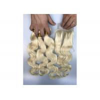 Buy cheap 3 Bundles 100% Brazilian Virgin Hair / 1b 613 Body Wave Hair Extensions from wholesalers