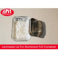 Wholesale Rectangle Foil Tray Lids Aluminium Coated Laminated Paper Board Material from china suppliers