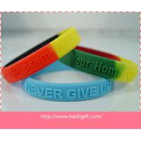 Professional Sports Silicone Bracelets Ecofriendly Colorful With Embossed Logo