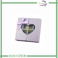 China Special Paper Gift Boxes Of Chocolates Pvc Window Heart Shaped wholesale