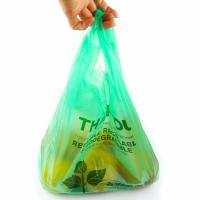 Wholesale 40 % Bio Based Biodegradable Plastic Shopping Bags , Eco Friendly Plastic Bags from china suppliers