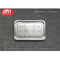 Wholesale Pure Aluminium Foil Tray Lids Rectangle Shape 204mm×132mm Size For Foods Packing from china suppliers