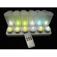 remote rechargeable color change flameless tea lights set of 12pcs of. Black Bedroom Furniture Sets. Home Design Ideas