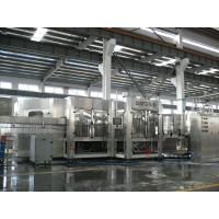 China 3-in-1 Carbonated Filling Machine For PET Bottle With 24 Rinsing Heads wholesale