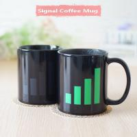 China Signal Heat Sensitive Mugs That Change Color Popular Color Changing Coffee Cup wholesale