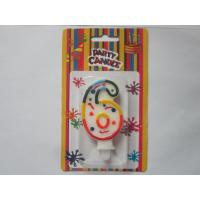 Musical Note 6 Number Birthday Candles 1.61 Inch Width With Color Full Border