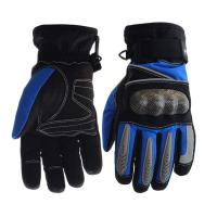 Wholesale Palm - Microfiber Electric Motorcycle Parts Blue / Black Electric Motorcycle Gloves from china suppliers