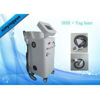 Quality 2000W Two Handles SHR Hair Removal Machine / Yag Laser tattoo removal Machine for sale