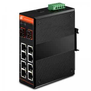 Buy cheap Gigabit Ethernet PoE Switch,managed,8x10/100Base-TX + 2x1000Base-FX SFP / 8xPoE from wholesalers