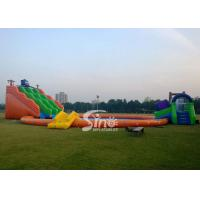 Wholesale Kids N adults giant inflatable water park on land with big inflatable swimming pool N big octopus slide from china suppliers