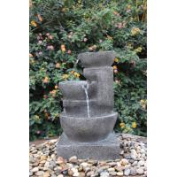 China Decorative Outdoor Tiered Water Fountains In Magnesia Material wholesale