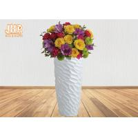 Wholesale Decorative Modern Style Fiberglass Flower Pots For Artificial Plants 2 Sizes from china suppliers
