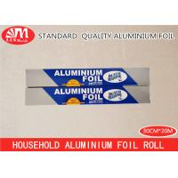 Wholesale Household Aluminium Foil Roll , Tin Foil Roll 10 Micron Thickness 20m Length from china suppliers