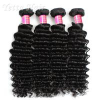 Quality Malaysian Deep Curly 6A  Virgin Hair Full Head With Soft and Luster for sale