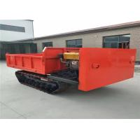 China Steel Track Carrier Crawler Transporter Mine Dump Truck In Red Color on sale