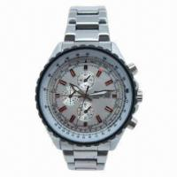 China Original Silver Metal Wristwatch with Waterproof and Japan Miyota Quartz Movement, CE-/RoHS-marked on sale
