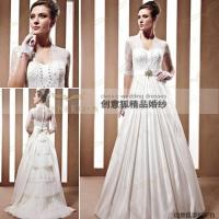 Wholesale gorgeous half sleeve scalariform wedding gowns 90029 from china suppliers