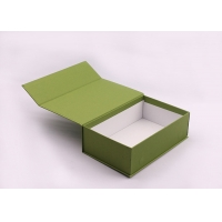 Wholesale Recyclable Rigid Cardboard Boxes , Glossy White Collapsible Gift Boxes from china suppliers