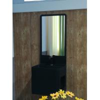 Wholesale High Toughness Wash Basin Cabinets Black Matted Surface With Mirror from china suppliers