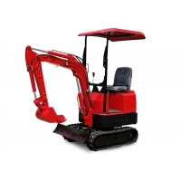 Wholesale Red Color Mini Excavator Machine For Foundation Construction from china suppliers