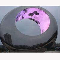 Wholesale Outdoor Large metal round stainless steel sculpture project,Stainless steel sculpture supplier from china suppliers