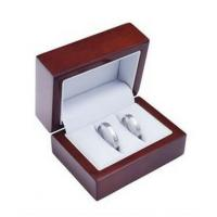 China Funky Design Jewelry Wooden Box Custom Logo Printing For Double Rings on sale