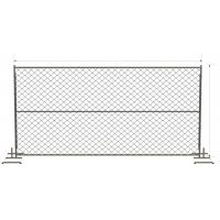 horizontal Brace chain link temporary fencing panels 6 foot x 12 foot
