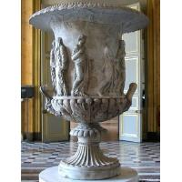 Wholesale White Marble Flowerpot for building from china suppliers