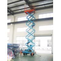 Wholesale 11 Meters adjustable mobile scissor lift with Anti-skid floor platform from china suppliers