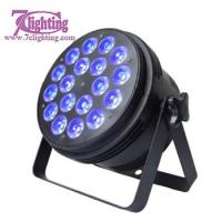 Compact Quad LED Par 64 Round Flat Par Can 18x10W RGBW Wash Lights 4/8CH Easy Control DMX LED Stage Lights For event DJs