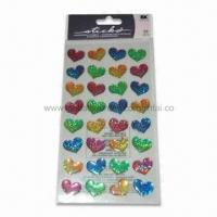 Wholesale Bubble Hearts Epoxy 3D Stickers, Available in Various Styles, Suitable for Children from china suppliers