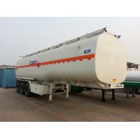 Wholesale 45000 liters oil tanker trailer tri-axle fuel tank semi trailer from china suppliers