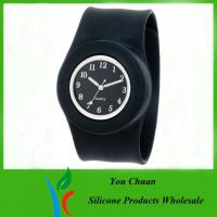 Wholesale Customized Waterproof Silicone Slap Watch With Janpanese Quartz / Digital Movement from china suppliers