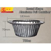 Wholesale Disposable Round Shape Pan Aluminium Foil Food Container Aluminum Foil 750cc Volume Heavy Duty from china suppliers