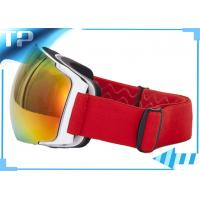China Silicone Strap REVO Red Polarized Snowboard Goggles For Skiing Sports on sale