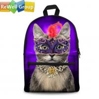 Wholesale Canvas Backpack School Bags Fashion Shoulder Bag Backpack Party Cat from china suppliers