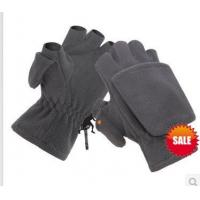 Wholesale fingerless  fleece gloves with lap from china suppliers