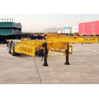 30 Feet Gooseneck Skeleton Semi Trailer For Heavy Container Delivery