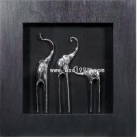 Wholesale A Sets 3D Shadow Box Elephants MDF Framed Artwork from china suppliers
